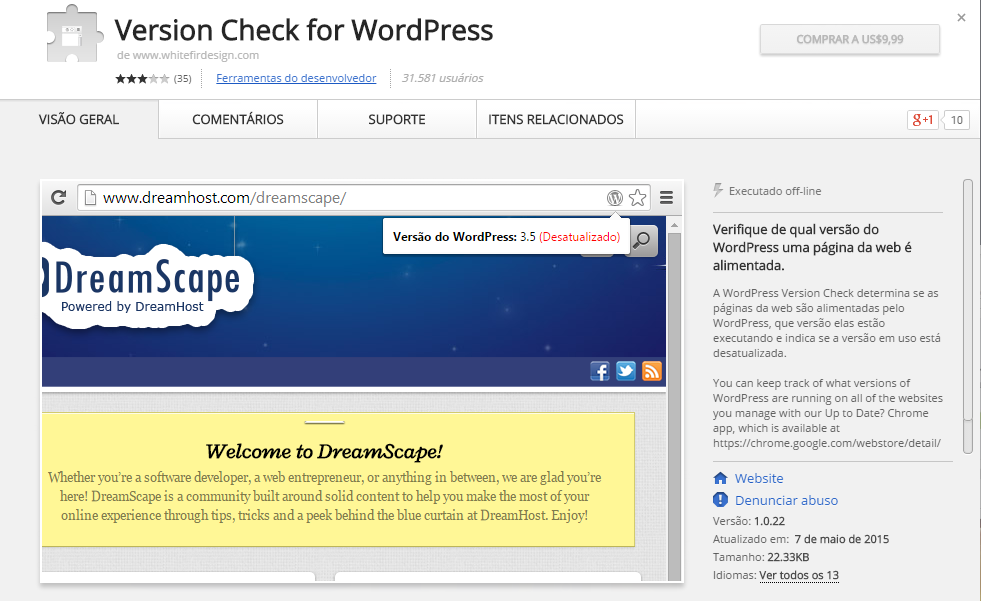 check-versao-wordpress-no-chrome