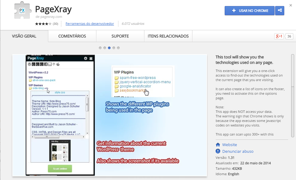 pagexray-wordpress-chrome