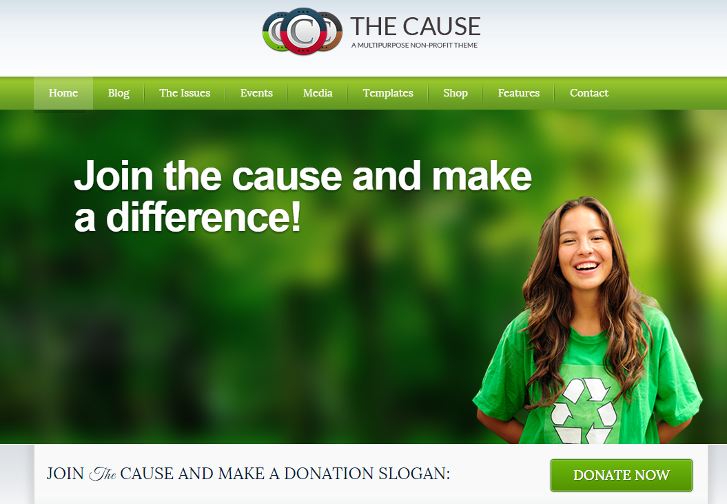 the-cause-tema-wordpress