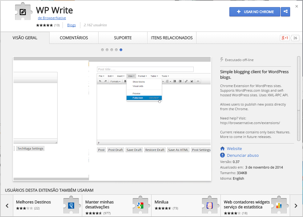 wp-write-extensao-para-chrome