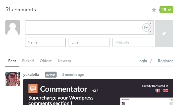 commentator-wordpress