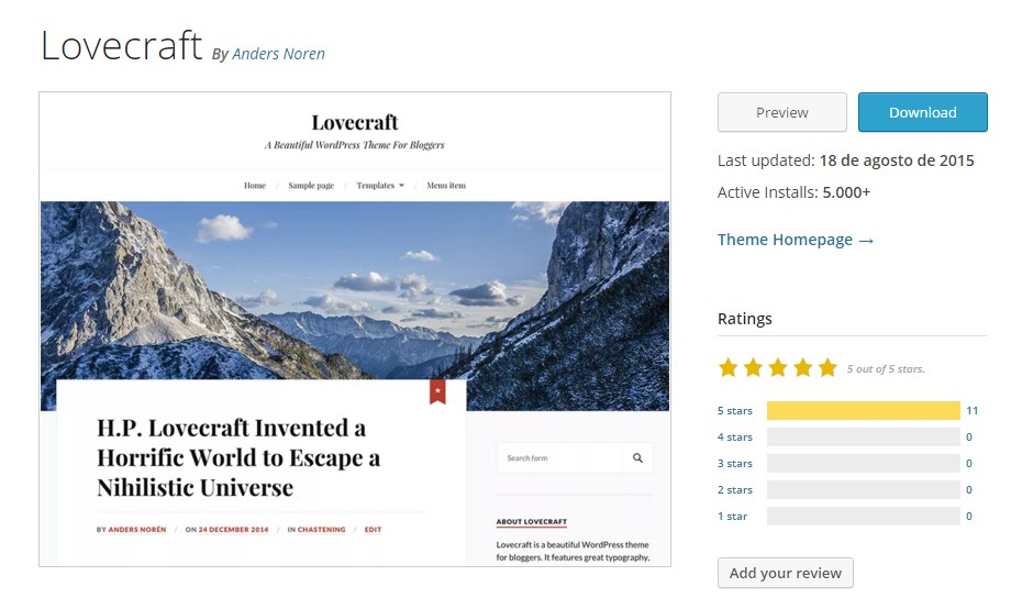 lovecraft-wordpress